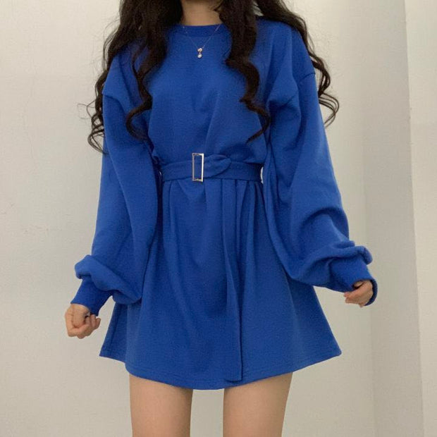 Chic Belted Oversize Pullover