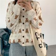 Teddy Bear All Over Cardigan