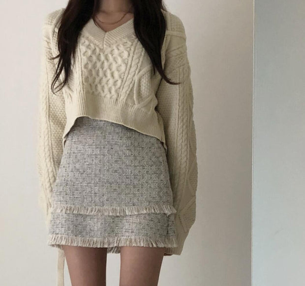 Tied Back Knit Sweater