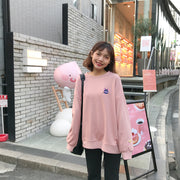Soft Sailor Moon Embroidered Pullover