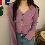 Rainbow Button Down Cardigan