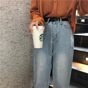 Casual Wide Bottom Light Jeans