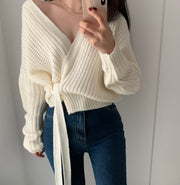 Chunky Side Wrap Sweater