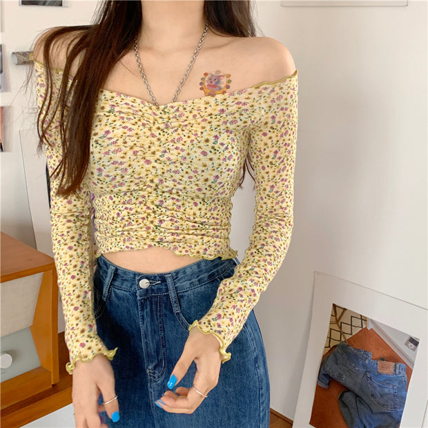 Daisy Yellow Floral Off Shoulder Top