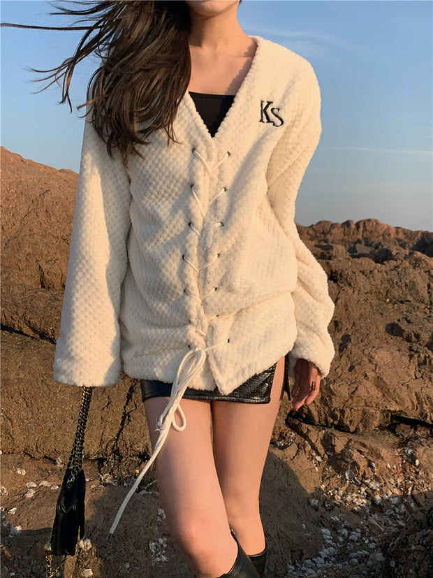 Soft Lace Down Knit Sweater