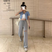 Casual Thigh Cut Pants (3 Colors)