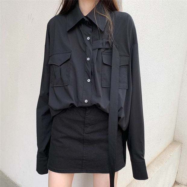 Chic Oversize Button Down Shirt