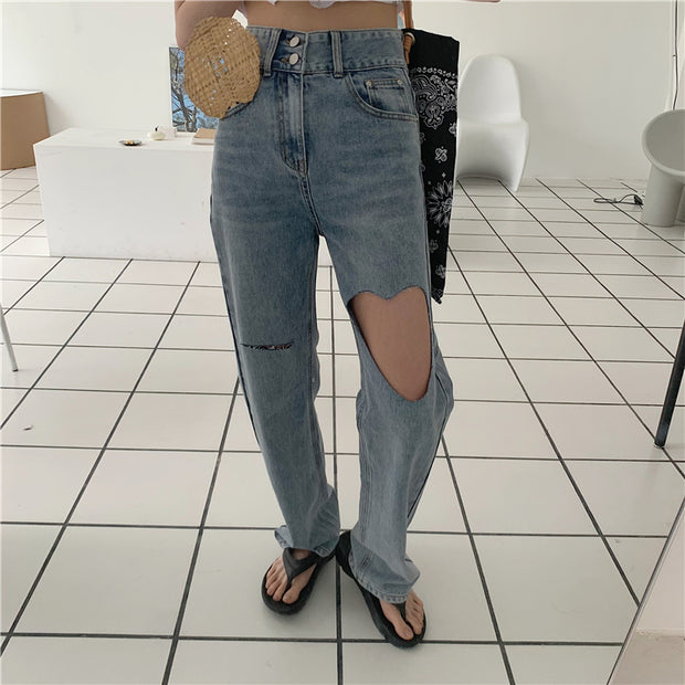 Heart Cutout Highwaisted Jeans