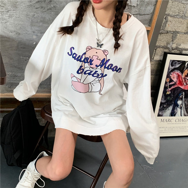 Oversize Sailor Moon Baby Pullover