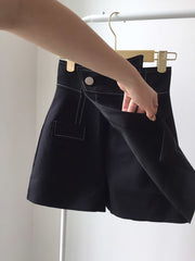 Asymmetric High Waisted Skorts