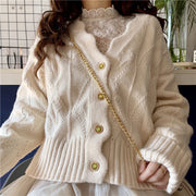 Wavy Button Up Cardigan