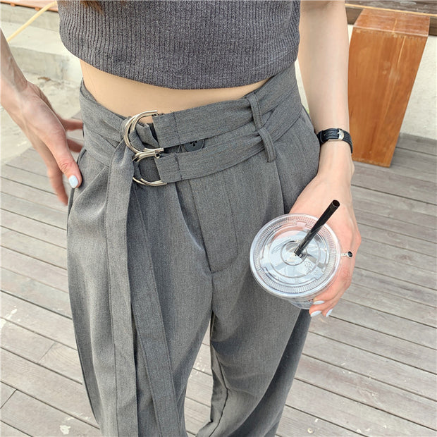 Double Belted Highwaisted Pants