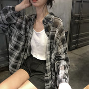 Casual Black Plaid Flannel