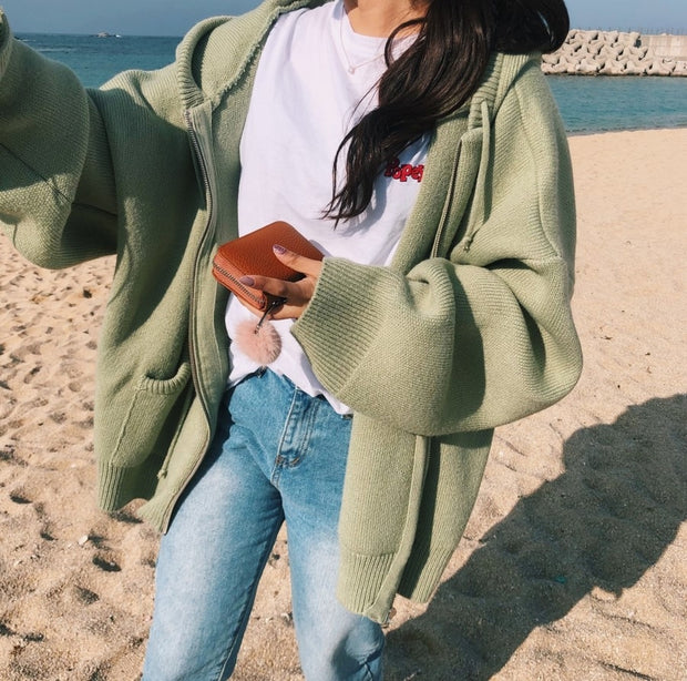 Chunky Knit Sweater Jacket
