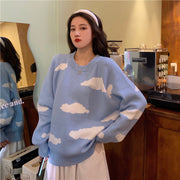Cloudy Skies Oversize Sweater