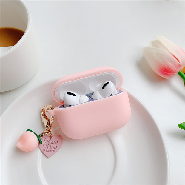 Peachy Heart Airpods Pro Case