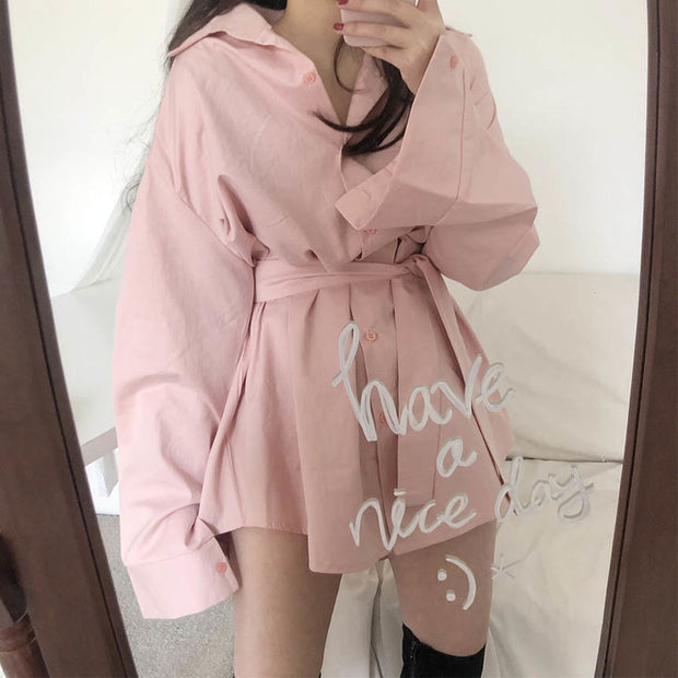 Chic Oversize Shirt Dress