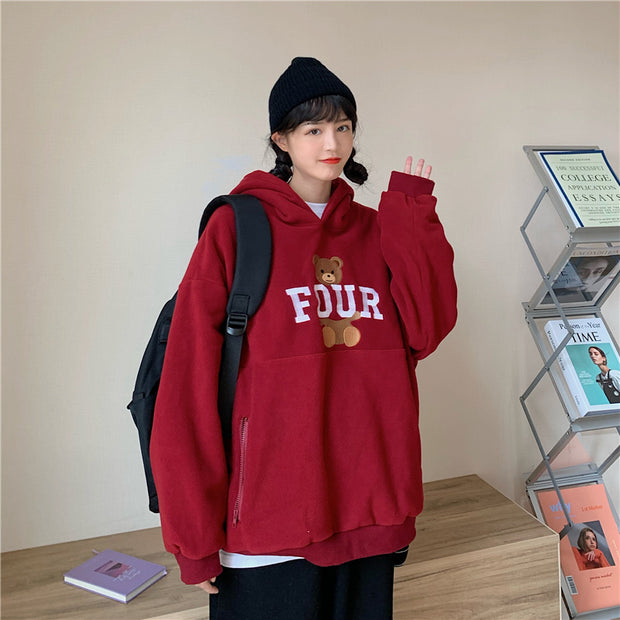 Four Bear Pocket Hoodie