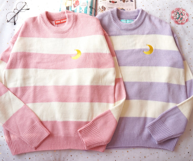 Crescent Stripe Sweater