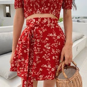 Vintage Floral Two Piece Set