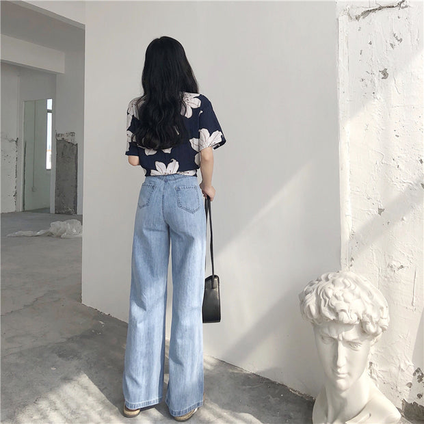 Casual Wide Bottom Jeans