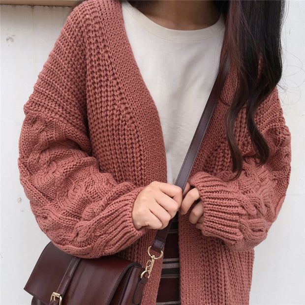 Braided Knit Cardigan