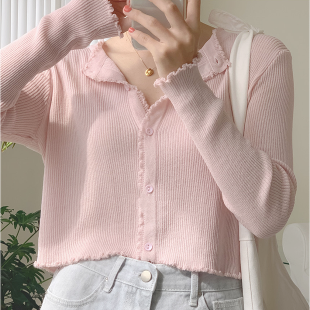 Elegant Basic Short Cardigan