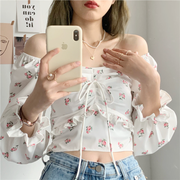 Floral Off Shoulder Corset Blouse