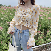 Daisy Ruffled Drawstring Blouse