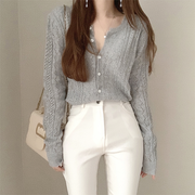 Casual Button Down Knit Cardigan