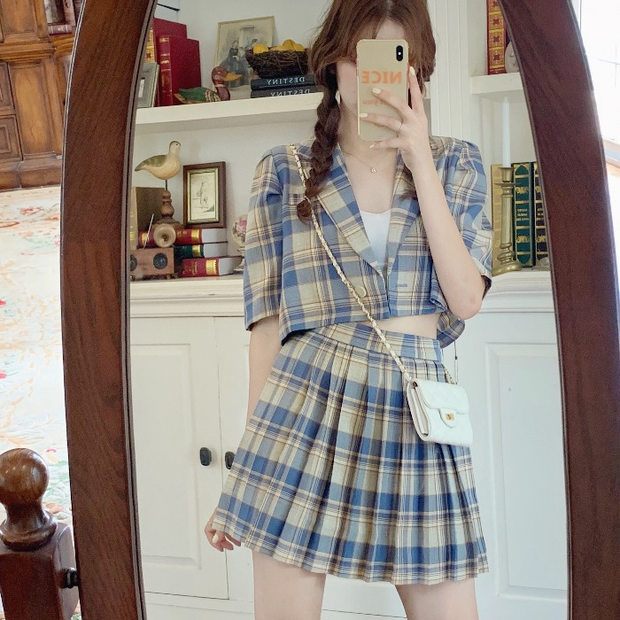 Charlotte Classy Plaid Outfit Set