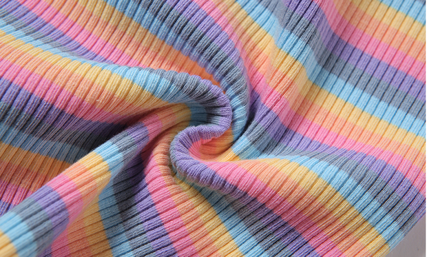 Pastel Rainbow Zip Up Polo
