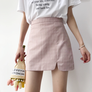 Highwaisted Grid Skirt