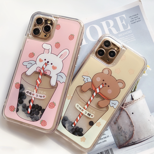 Boba Angel Case (Moving Pearls)