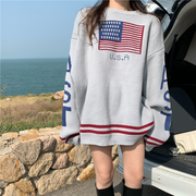 Oversize USA Embroidered Pullover