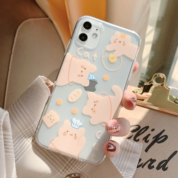 Soft Orange Cat Case