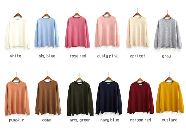 Basic Knit Sweater (12 Colors)