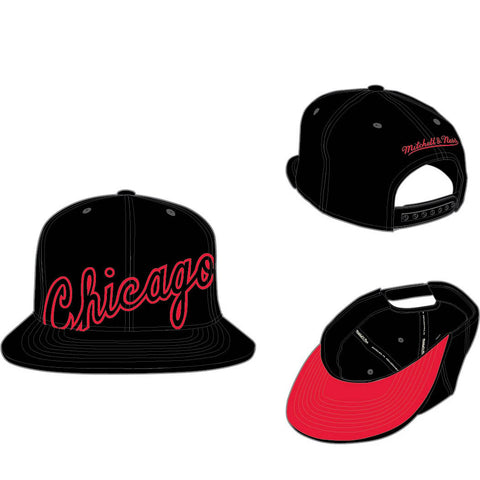 MITCHELL & NESS - CHICAGO BULLS CROPPED XL SNAPBACK - BLACK - Ateaze USA