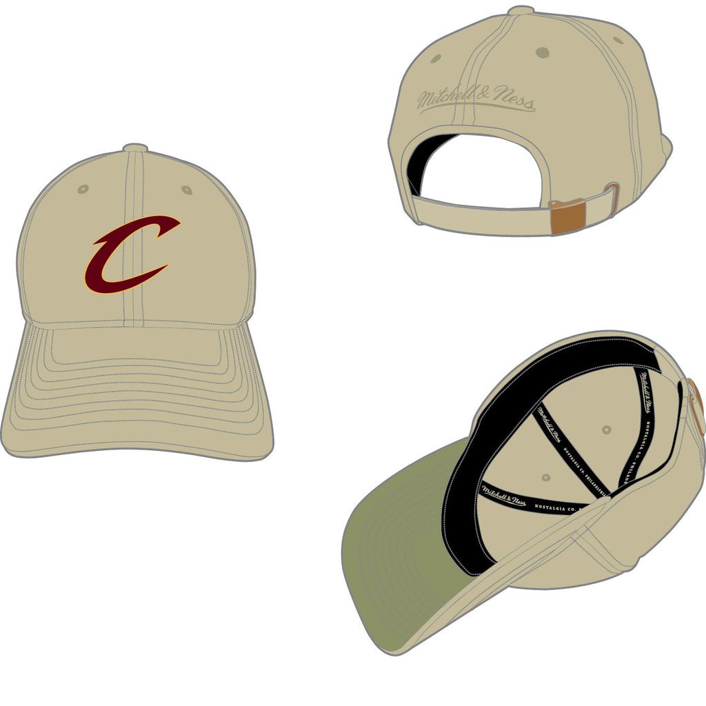 factory authentic bc4b1 c1c8d MITCHELL   NESS - CLEVELAND CAVALIERS BLAST WASH SLOUCH STRAPBACK - 91 –  AtEaze
