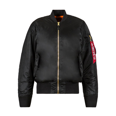 ALPHA - MA-1 FLIGHT JACKET - BLACK