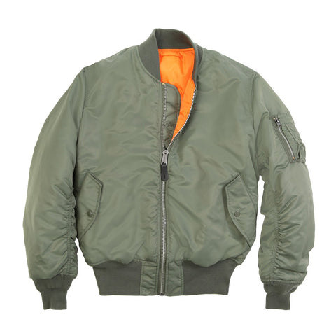 ALPHA - MA-1 FLIGHT JACKET - SAGE/GREEN