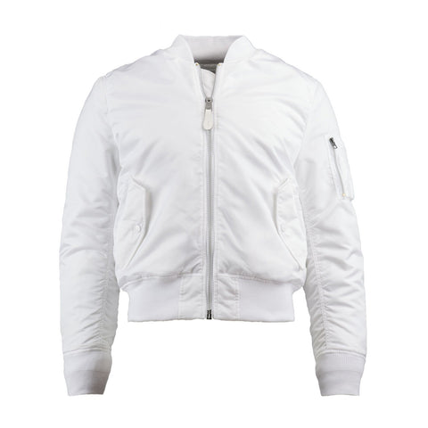 ALPHA - MA-1 SLIM FIT/EUROPEAN FIT - WHITE