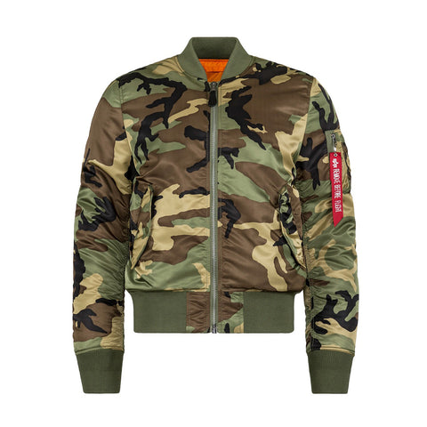 ALPHA - MA-1 SLIM FIT/EUROPEAN FIT - WOODLAND/CAMO