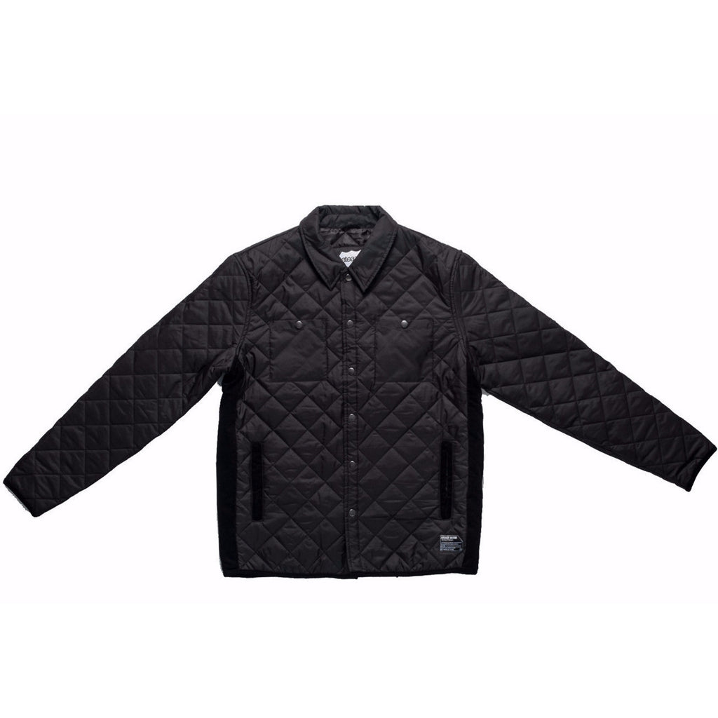 ATEAZE MAVERICK QUILTED JACKET - BLACK