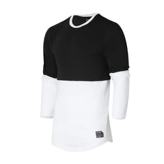 ATEAZE CUT & SEW TEE - Black/white