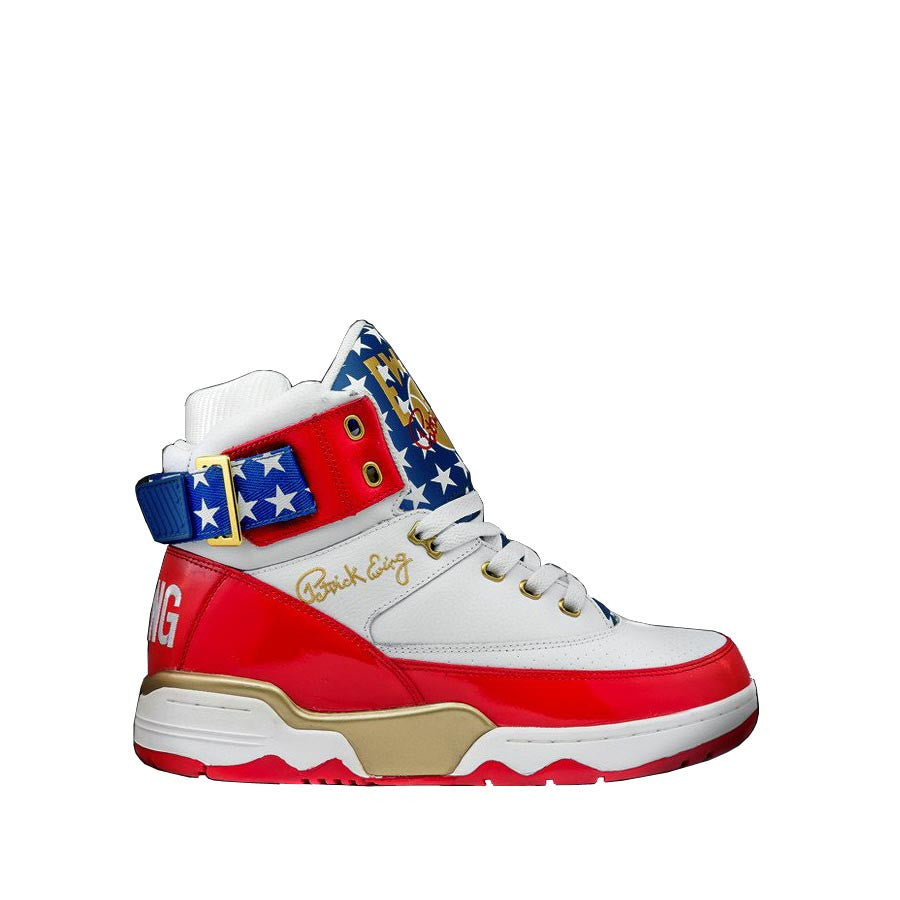 new styles fe2a1 de340 Ewing - 33 Hi 4th Of July - White Royal Red Gold