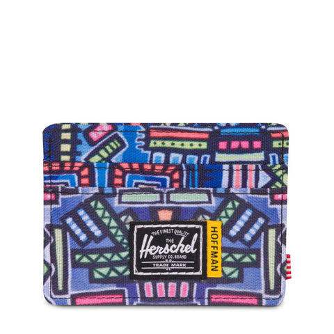 HERSCHEL - CHARLIE WALLET - ABSTRACT GEO BLUE HOFFMAN COLLECTION - Ateaze USA