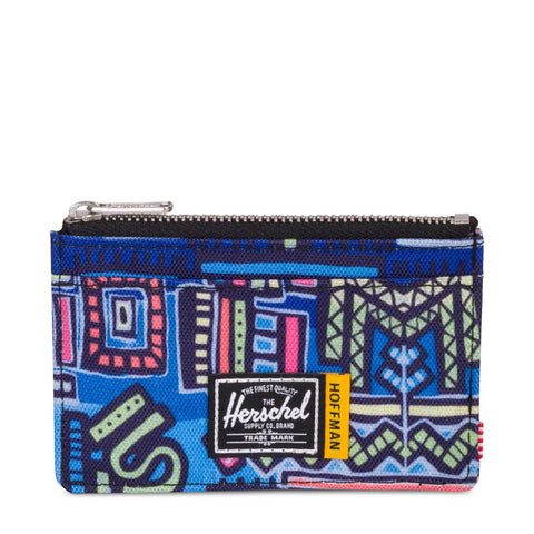 HERSCHEL - OSCAR WALLET - ABSTRACT GEO BLUE HOFFMAN COLLECTION Ateaze USA