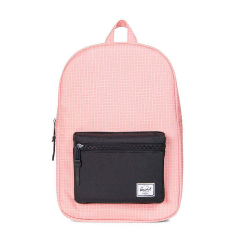 a1b1d1d571 HERSCHEL - SETTLEMENT MID VOLUME 600D POLY BACKPACK - STRAWBERRY ICE GRID  BLACK