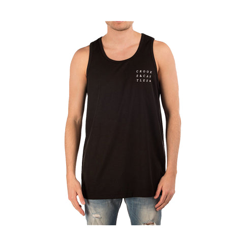 Crooks & Castles - Men's Knit Basketball Tank Top - Jagged - Black